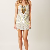 FULLY EMBELLISHED NEON NIGHTS DRESS