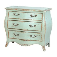 Etienne French Small Chest of Drawers | Turquoise Chest of Drawers | French Style Bedroom Furniture