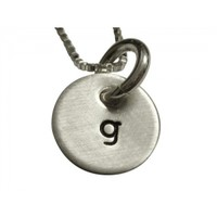 Hand Stamped Initial Pendant Necklace