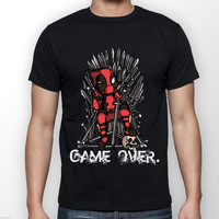 Deadpool vs Game of Thrones T Shirt men game over casual tee USA plus size s-3xl