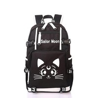 Japanese Anime Bag Fashion Cute Sailor Moon Backpack  Print School Bags For Teenagers Girls Boys Book Bag Women Men Cartoon Travel Backpack AT_59_4