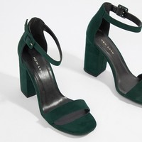 New Look Barely There Block Heel Sandal at asos.com
