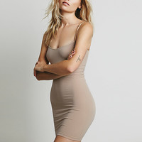 Brown Spaghetti Strap Bodycon Dress