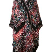 Chloé Knitted Boucle Blanket Coat - Forty Five Ten - Farfetch.com