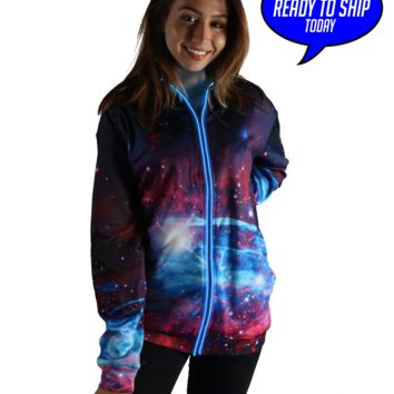 Deep Space Light Up Hoodie. Ready to ship!