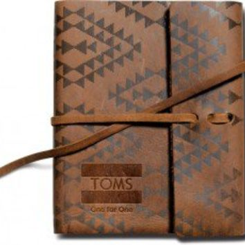 Printed Leather Journal   TOMS.com