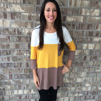 The Perfect Pocket Tee: Mustard Top