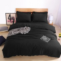 Black Bedding USA Russia Size Duvet Cover set Not Ball Not Fade Bedding Sets Custom Size Bedclothes Twin Full Queen Double King