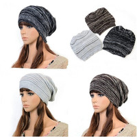 New Womens Mens Knit Baggy Beanie Hat Winter Ski Cap = 1958150404