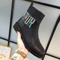 Dior Women Fashion Leather Boots Shoes