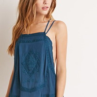 Embroidered Y-Back Cami