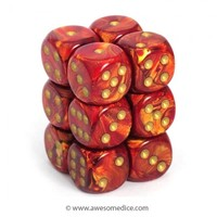 Scarab Scarlet 12d6 Dice Set | Awesome Dice