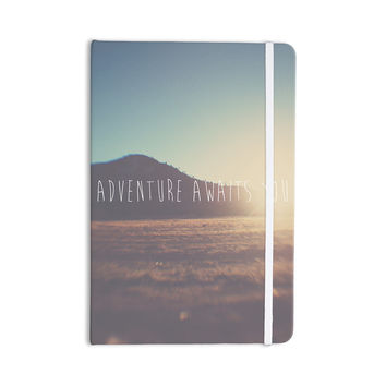 """Laura Evans """"Adventure Awaits You"""" Coastal Typography Everything Notebook"""