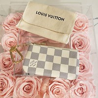 LV Louis Vuitton Key Pouch Classic Presbyopia Women's Key Pouch