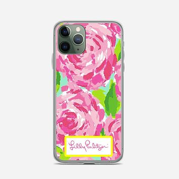 Lilly Pulitzer First Impression Rose Inspired iPhone 11 Pro Case