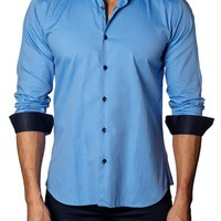 Jared Lang Trim Fit Dot Jacquard Sport Shirt | Nordstrom