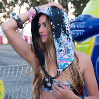 Acid Sky Spandex Assassin Rave Hood