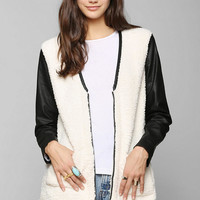 Silence + Noise Sherpa Jacket - Urban Outfitters