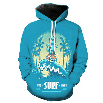 Surfing Squirtle Pokemon Hoodie