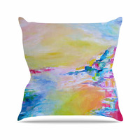 """Ebi Emporium """"Something About the Sea"""" Yellow Multicolor Throw Pillow"""