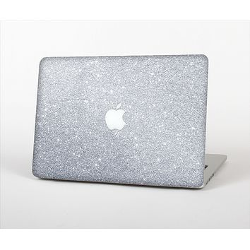 """The Silver Sparkly Glitter Ultra Metallic Skin Set for the Apple MacBook Pro 13"""" with Retina Display"""