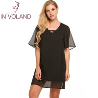 Casual Above Shift Women Hip Dress Flare 175cm V-Neck Height Solid Fit Waist Lace Yes 60cm Knee 90cm 90cm Bust Loose Sleeve