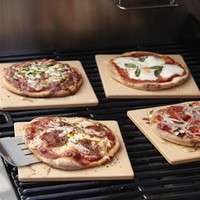 Square Mini Pizza Tiles, Set of 4