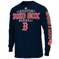 Majestic Boston Red Sox Charge the Mound Long Sleeve T-Shirt - Navy Blue