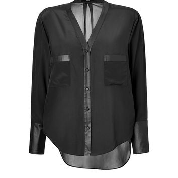 Steffen Schraut - Sheer Oversized Silk Blouse