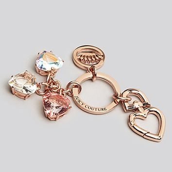 Juicy Couture Key Fob - Stone Hearts | Bloomingdale's