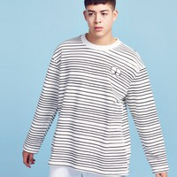 Lazy Oaf Tired Eye Stripe Sweatshirt - Everything - Categories - Mens