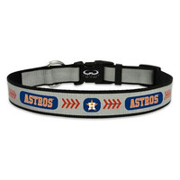 Houston Astros Reflective Nylon Dog Collar Size Large