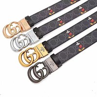 GG leather belt with decorative leather belt casual collocation G buckle trouser belt