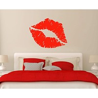 Vinyl Decal Sexy Lips Blowing Kiss Abstract Living Room Decor Unique Gift m527