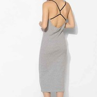 Cheap Monday Strappy-Back Knit Midi Dress- Grey