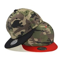 Trendy Winter Jacket Camouflage snapback polyester cap blank flat camo baseball cap with no embroidery mens cap and hat for men and women AT_92_12