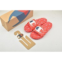 Champion Life Youth Slide Sandals Repeating Logo Red
