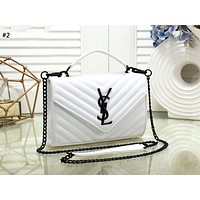 YSL new tide brand women's wave pattern simple wild chain bag shoulder bag #2