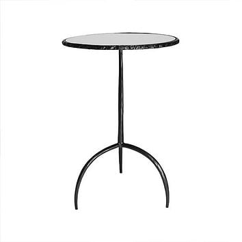 Opal Black Iron Side Table by Worlds Away