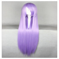 "Women Fashion 100CM/39"" Long straight Cosplay Fashion Wig heat resistant resistant Hair Full Wigs   Lavender"