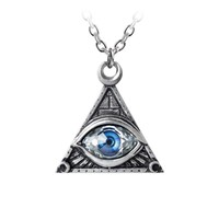 Alchemy Gothic Eye of Providence Pendant Necklace Pyramid