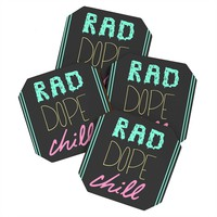 Leeana Benson Rad Dope Chill Coaster Set