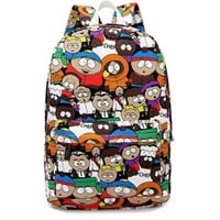2016 South Park Cartoon Women Backpacks School Bags For Teenage Girls College High School Casual Daily Backpack For Student Bags