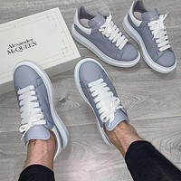 Alexander Mcqueen Casual Little White Shoes-61