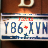 """Upcycled Wall Mount Texas """"Lone Star State"""" License Plate Mailbox"""