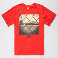 Nike Sb Daryl Angel Photo Boys T-Shirt Red  In Sizes