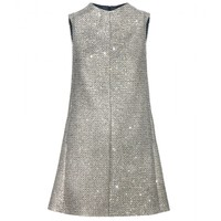 saint laurent - sequin-embellished tweed dress