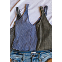 Out and About Seamless Tank, Vintage Blue