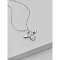 Bumble Bee Necklace - Silver