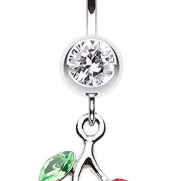 Lucky Cherry Belly Button Ring